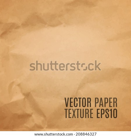 Realistic paper texture. Background. Vector illustration - stock vector