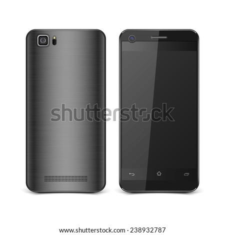 Realistic smart phones isolated.vector - stock vector