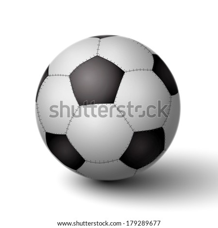 Realistic soccer ball for football icon isolated vector illustration - stock vector
