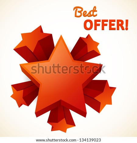 Realistic stars isolated. Special offer - stock vector