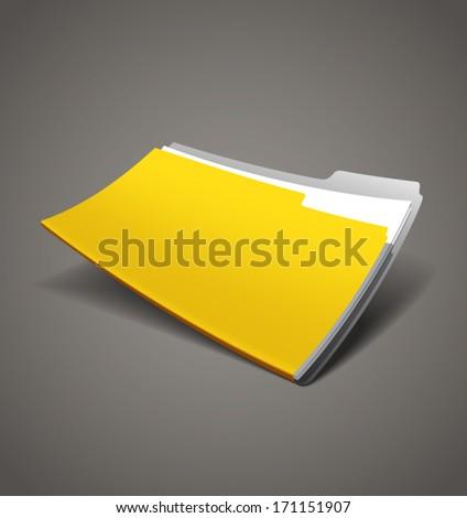 Realistic stylish folder. Vector. - stock vector