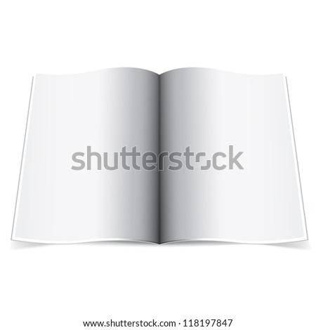 Realistic template centerfold on a white background - stock vector