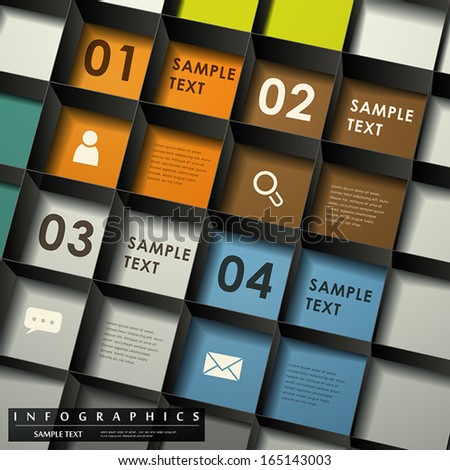 realistic vector abstract 3d lattice infographic elements - stock vector
