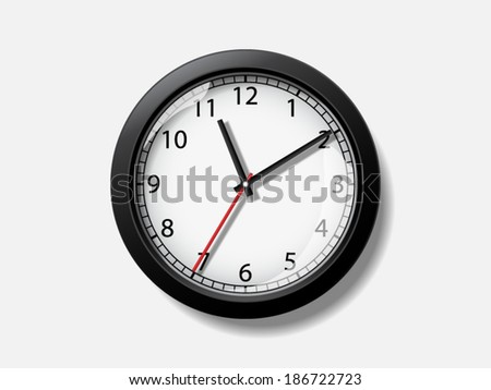 Realistic vector clock. File is in eps10 format. - stock vector