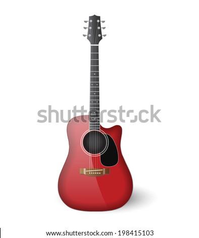 realistic vector guitar - stock vector