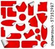 Realistic vector stickers with peeling corners. - stock vector