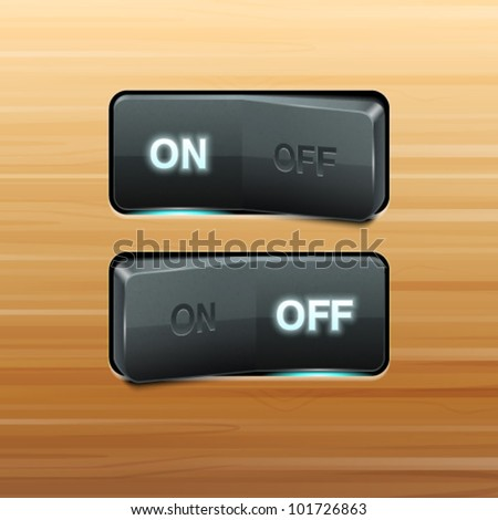 Realistic Vector Switch - stock vector
