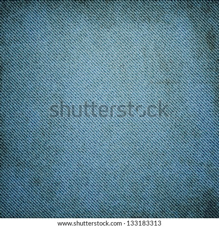 Realistic vintage dirty jeans texture, VECTOR - stock vector
