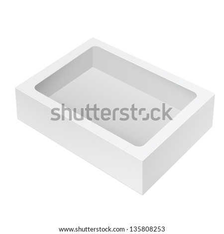 Realistic White Black Package Box. For Software, electronic device and other products. Vector illustration - stock vector