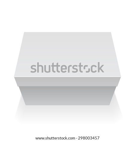 Realistic White Package Box. For For shoes, Software, electronic device and other products. Vector illustration. - stock vector