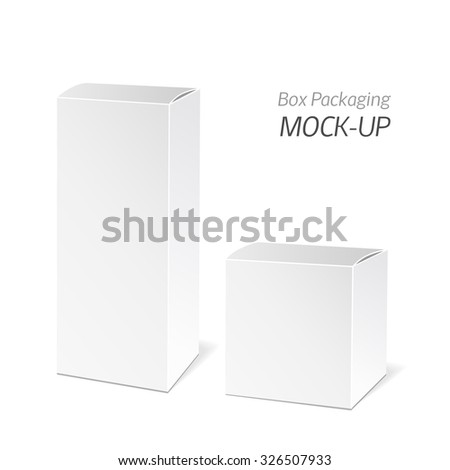 Realistic White Package Box. Packaging Product. Vector illustration. - stock vector