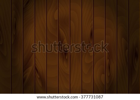 Realistic wooden vector background. Vector illustration.  - stock vector