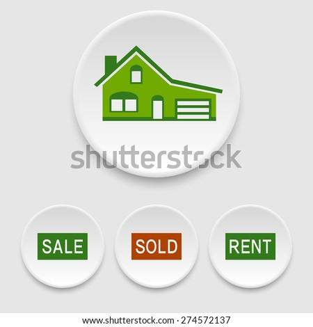 Realty icons - stock vector