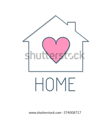 Reat Estate Logo. Home Care Concept. Vector illustration - stock vector