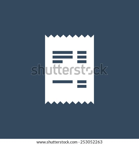 Receipt or Cheque flat icon. Modern flat icon for Web and Mobile Application. EPS 10.  - stock vector
