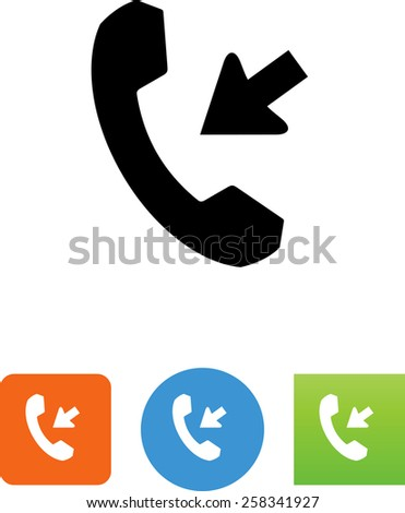 Receiving a phone call symbol for download. Vector icons for video, mobile apps, Web sites and print projects.  - stock vector