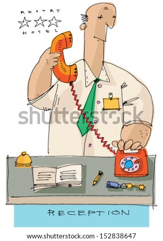 Stock Images similar to ID 153092693 - hotel reception cartoon