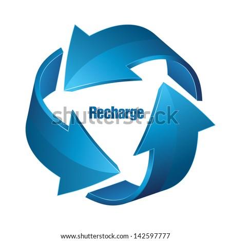 Recharge - stock vector