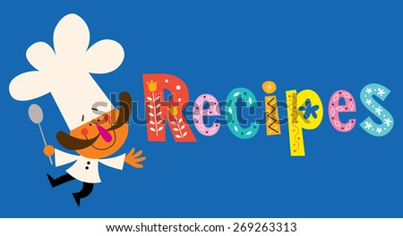 Recipes - stock vector