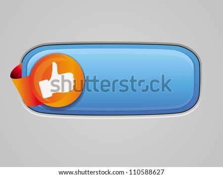 Recommendation button - with like sign - vector glossy illustration - stock vector