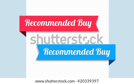 Recommended Buy Ribbons - stock vector