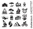 Recreation Icons. Vector illustration - stock vector