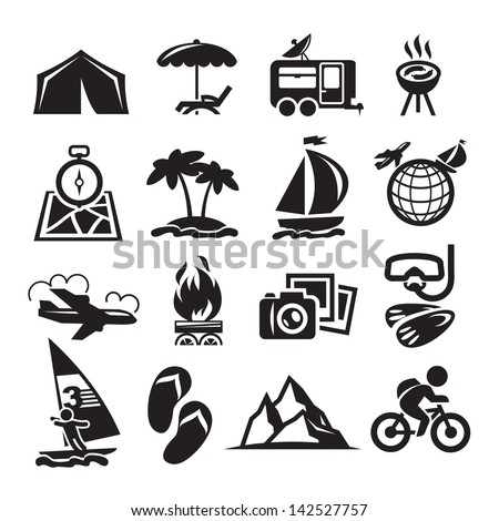 Recreation Icons. Vector illustration - stock vector