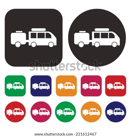 recreational vehicle vector icon. RV icon - stock vector