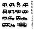 Recreational Vehicles Icons - stock vector