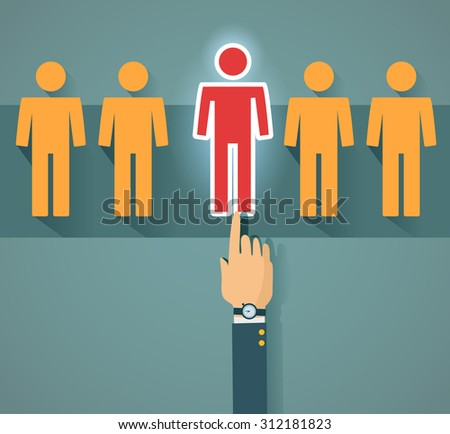 Recruitment and human resource - stock vector