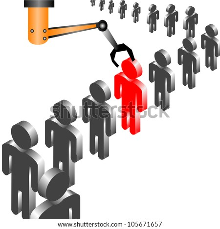 recruitment and Quality Control in industry - stock vector