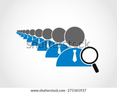 Recruitment Employee Selection  - stock vector