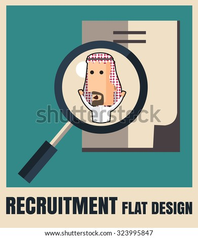 recruitment. picking the right candidate professional .Flat icons,flat design ,vector illustration concept set - stock vector