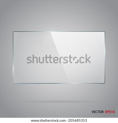 Rectangle glass panel. - stock vector