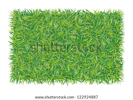 rectangle of grass - stock vector