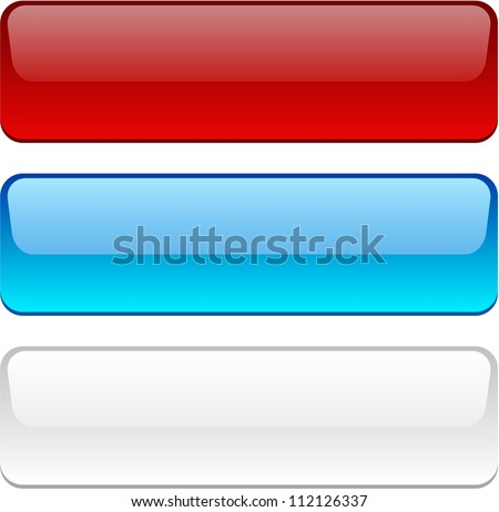 Rectangular buttons in different colors. - stock vector