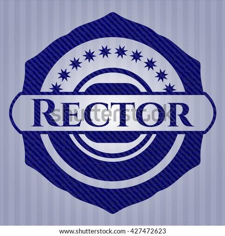Rector denim background - stock vector