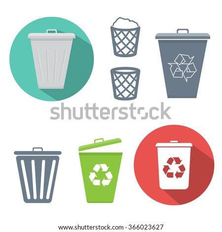 Recycle bin icon - stock vector