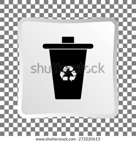 Recycle bin icon, vector illustration - stock vector