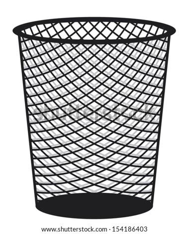 recycle bin (rubbish bin, trash icon,  wastebasket) - stock vector