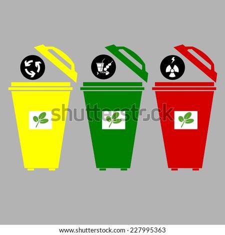 recycle bin vector  - stock vector