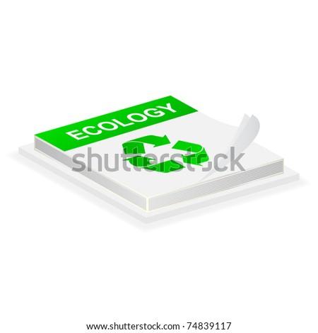 recycle button - stock vector