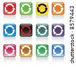 recycle button pack 3/3 - check my gallery for other recycling VECTORs or JPEGs - stock vector