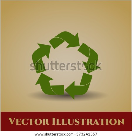 Recycle high quality icon - stock vector