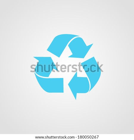 Recycle Icon Isolated on White Background - stock vector