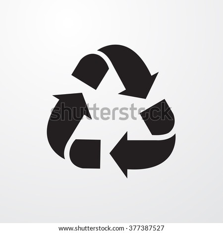 Recycle Icon Vector Illustration  - stock vector