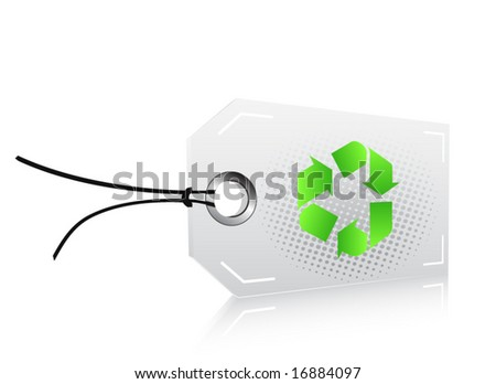 Recycle label - stock vector