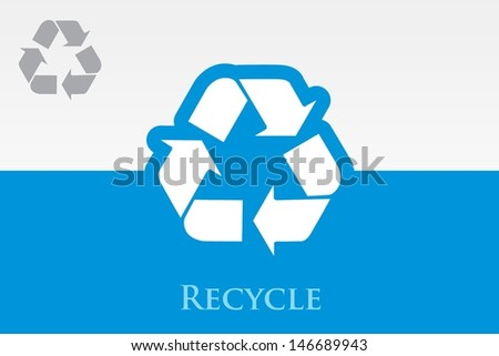Recycle (Reuse) Icon  - stock vector