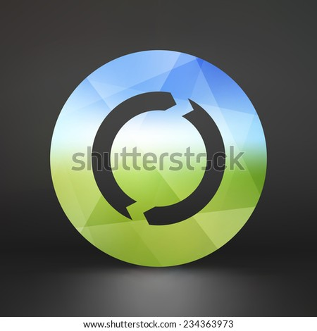 Recycle sign. Ecology icon. Vector illustration for your design. - stock vector
