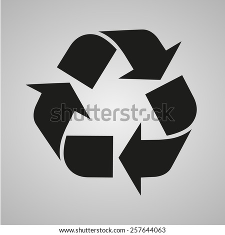 Recycle sign isolated  - stock vector
